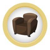Ejemplo del vector de la butaca Imagen de archivo libre de regalías