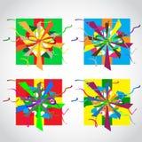 Ejemplo del vector de la caja de regalo colorida Imagen de archivo