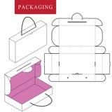 Ejemplo del vector de la caja de la manija ilustración del vector