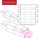 Ejemplo del vector de la caja plantilla del paquete ilustración del vector