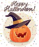 Ejemplo del vector de la calabaza del feliz Halloween Fotos de archivo