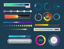 Ejemplo del vector de la carga por teletratamiento del archivo de plantilla del diseño de interfaz del web de ui-UX del progreso  libre illustration