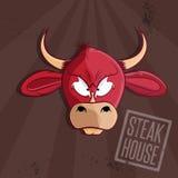 ejemplo del vector de la casa con la cabeza del toro stock de ilustración