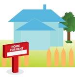 Ejemplo del vector de la casa para el alquiler Imagenes de archivo