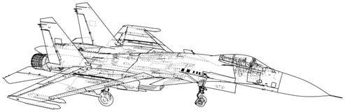 Ejemplo del vector de la caza a reacción Aero- Alca L-159 aviones Portador-basados Combatiente supersónico moderno creado libre illustration