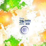 Ejemplo del vector de la celebración del día de la república 26 de enero Imagenes de archivo