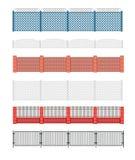 Ejemplo del vector de la cerca Cerca del ladrillo y cerca de madera Aro de la cerca Imágenes de archivo libres de regalías