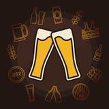 Ejemplo del vector de la cerveza ilustración del vector