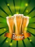 Ejemplo del vector de la cerveza contra el contexto Fotografía de archivo