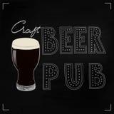 Ejemplo del vector de la cerveza del arte Imagenes de archivo