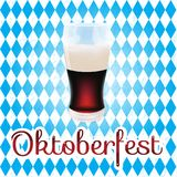 Ejemplo del vector de la cerveza oscura de Oktoberfest del festival de la bandera stock de ilustración