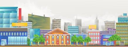 Ejemplo del vector de la ciudad stock de ilustración