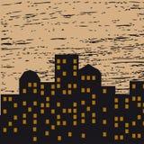 Ejemplo del vector de la ciudad de la noche Fotos de archivo