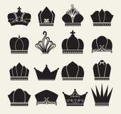 Colección de la corona Imagen de archivo libre de regalías
