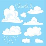 Ejemplo del vector de la colección de las nubes Fotografía de archivo libre de regalías
