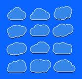 Ejemplo del vector de la colección de las nubes Imagenes de archivo
