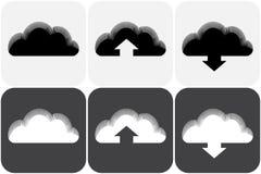 Ejemplo del vector de la colección de las nubes Foto de archivo libre de regalías