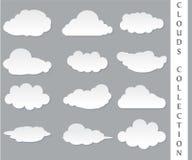 Ejemplo del vector de la colección de las nubes Fotografía de archivo