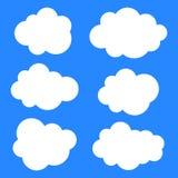 Ejemplo del vector de la colección de las nubes Imagen de archivo libre de regalías