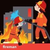Ejemplo del vector de la colección del bombero Imagen de archivo