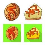Ejemplo del vector de la confiter?a y del icono culinario Fije del s?mbolo com?n de la confiter?a y del producto para la web libre illustration