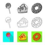Ejemplo del vector de la confiter?a y del logotipo culinario Fije del icono del vector de la confiter?a y del producto para la ac ilustración del vector
