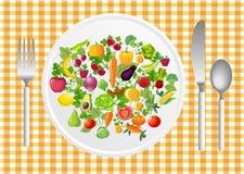 Ejemplo del vector de la ensalada Foto de archivo