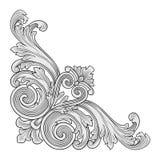 Esquina del marco de la decoración Imágenes de archivo libres de regalías