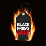 Ejemplo del vector de la etiqueta de la venta de Black Friday Imagen de archivo
