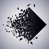 Ejemplo del vector de la explosi?n del Rhombus ilustración del vector