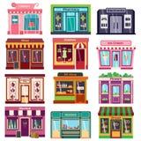 Ejemplo del vector de la fachada de la tienda libre illustration