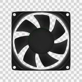 Ejemplo del vector de la fan del ordenador Foto de archivo libre de regalías