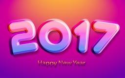 Ejemplo del vector de la Feliz Año Nuevo 2017 Foto de archivo libre de regalías