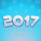 Ejemplo del vector de la Feliz Año Nuevo 2017 Fotos de archivo libres de regalías