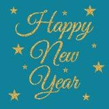 Ejemplo del vector de la Feliz Año Nuevo del oro stock de ilustración