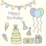 Ejemplo del vector de la fiesta de cumpleaños ilustración del vector