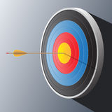 Ejemplo del vector de la flecha y de la blanco Imágenes de archivo libres de regalías