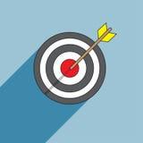Ejemplo del vector de la flecha y de la blanco para el deporte Imagen de archivo