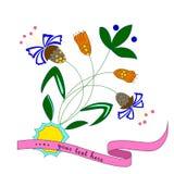 Ejemplo del vector de la flor colorida abstracta Fotografía de archivo