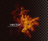 Ejemplo del vector de la forma ahumada stock de ilustración