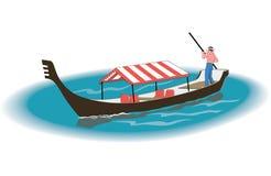 Ejemplo del vector de la góndola stock de ilustración