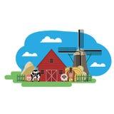 Ejemplo del vector de la granja Imagen de archivo libre de regalías