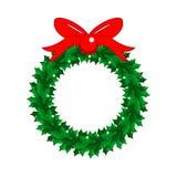 Ejemplo del vector de la guirnalda de la Navidad Fotos de archivo