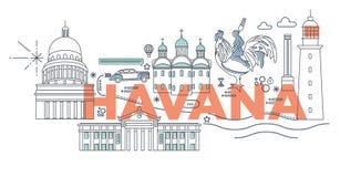 Ejemplo del vector de La Habana de la palabra de la tipografía