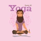 Ejemplo del vector de la habilidad de la actitud de VIolet Yoga Foto de archivo libre de regalías