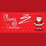 Ejemplo del vector de la historieta de la Feliz Navidad Imágenes de archivo libres de regalías