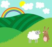 Animales en la naturaleza de Pascua de la primavera stock de ilustración