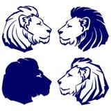 Ejemplo del vector de la historieta del bosquejo del icono del león Fotos de archivo