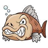 Historieta enojada de los pescados Foto de archivo libre de regalías