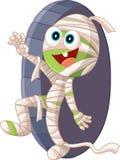 Ejemplo del vector de la historieta de la momia de Halloween Fotografía de archivo libre de regalías